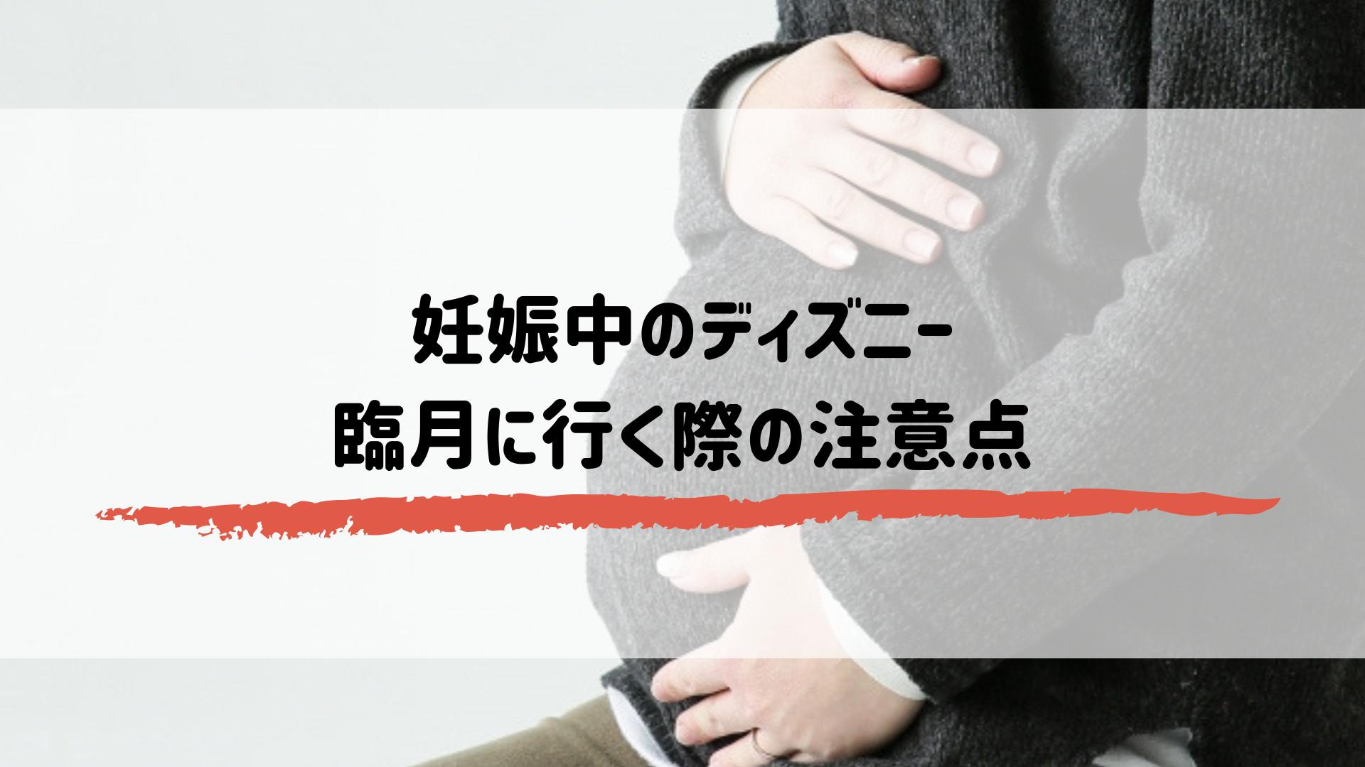 妊娠中のディズニー 臨月に行く際の注意点
