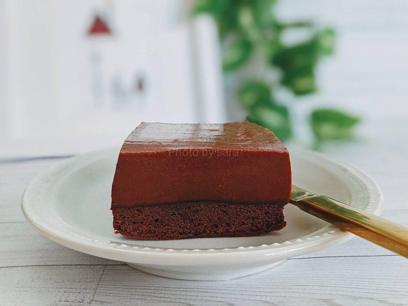 チョコレートプリンケーキ レシピ パウンド型 作り方