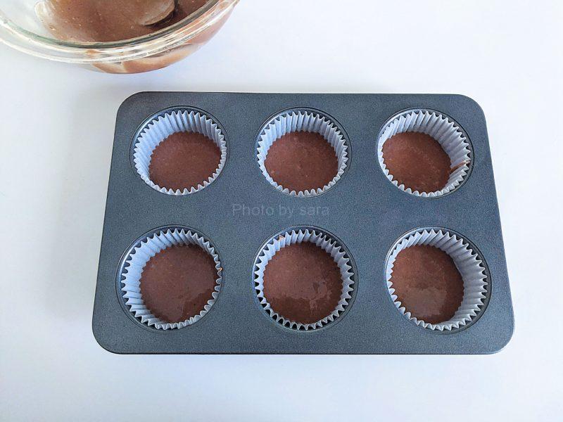 ココアと抹茶のマーブルマフィン 作り方 レシピ 簡単 オイルマフィン