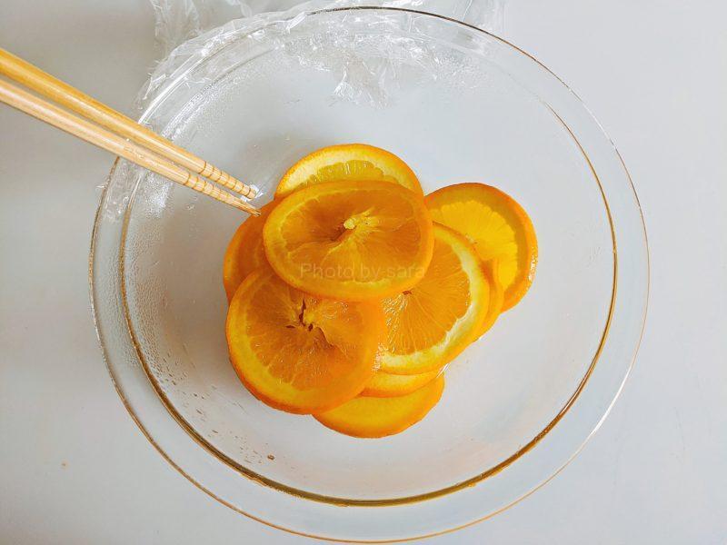 オレンジコンポート レンジ 簡単レシピ