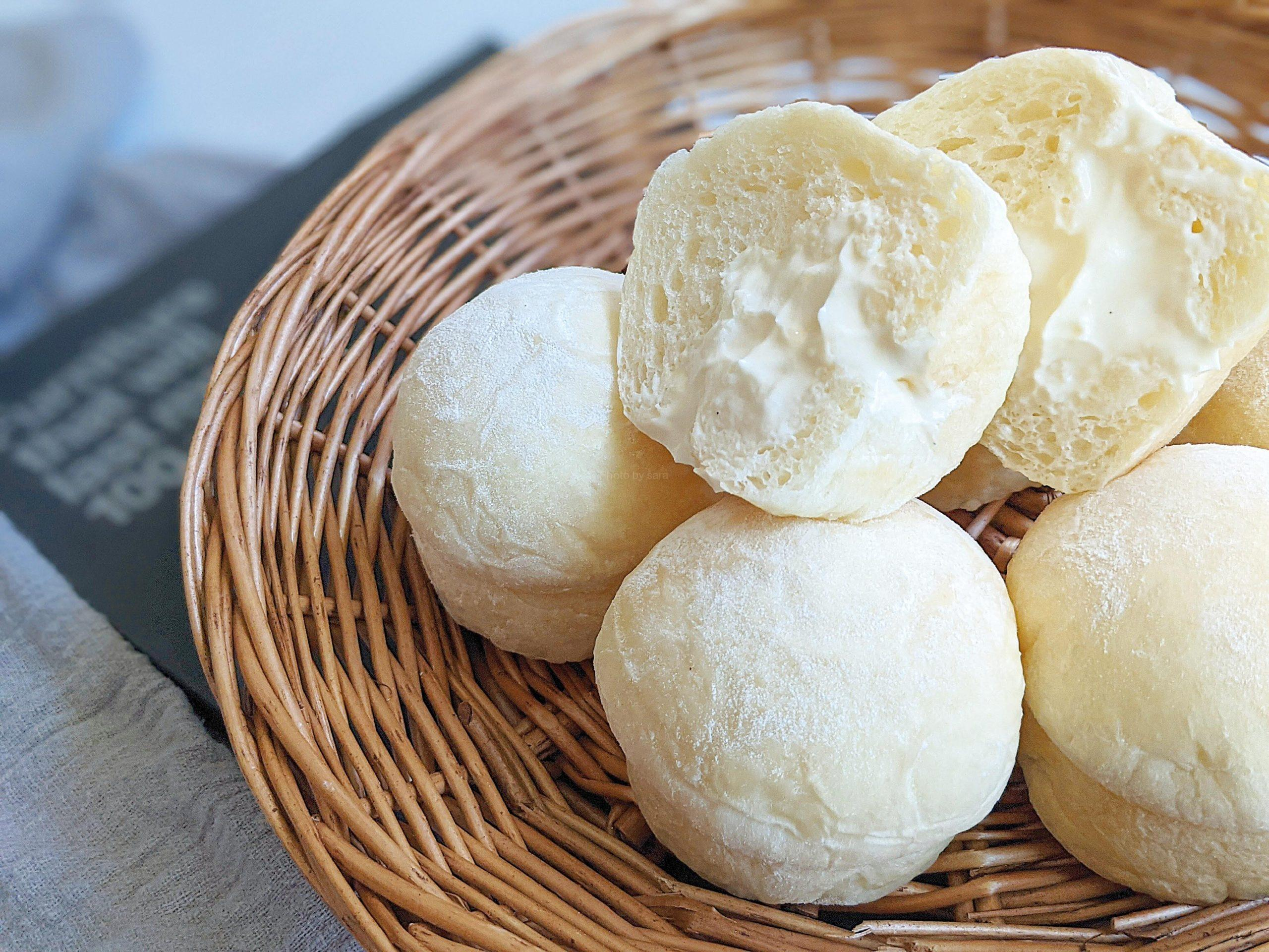 冷やしクリームパン 簡単レシピ マフィン型